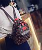 Трендовый коричневый рюкзак в ромбики, фото 3