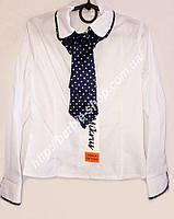 Детская рубашка в школу  со съемным галстуком  1219