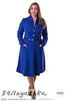 Платье большого размера а-ля 70-е индиго