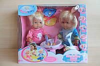Интерактивные куклы близнецы мальчик и девочка размер  38х32х12 см