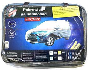 """Тент на кузов """"Джип"""" 3XL серый с подкладкой плотный (серая сумка) 210/77/60 PEVA Milex"""