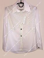 Нарядная блузка для девочки в школу 1224