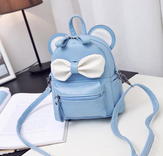 Мультяшные рюкзаки Мини Маус с нежным бантиком и ушками