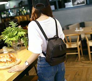 Стильный черный рюкзак MIRFNE, фото 2
