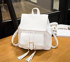 Нежный городской рюкзак с кисточками, фото 3