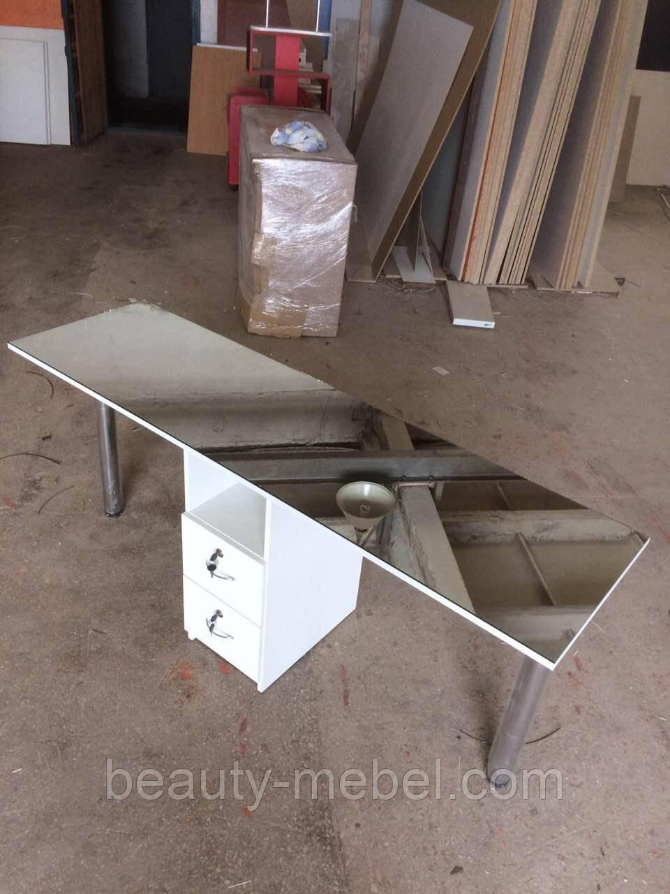 Профессиональный маникюрный стол на два рабочих места