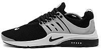 Мужские кроссовки Nike Air Presto Breeze Quickstrike Найк Аир Престо черные/серые