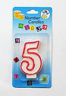 Свеча на торт цифра -5