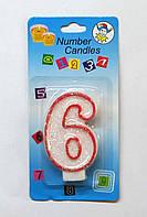 Свеча на торт цифра -6
