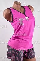 Женский комплект майка с шортами Турция. Night Angel 4885 S/M. Размер 42-44.