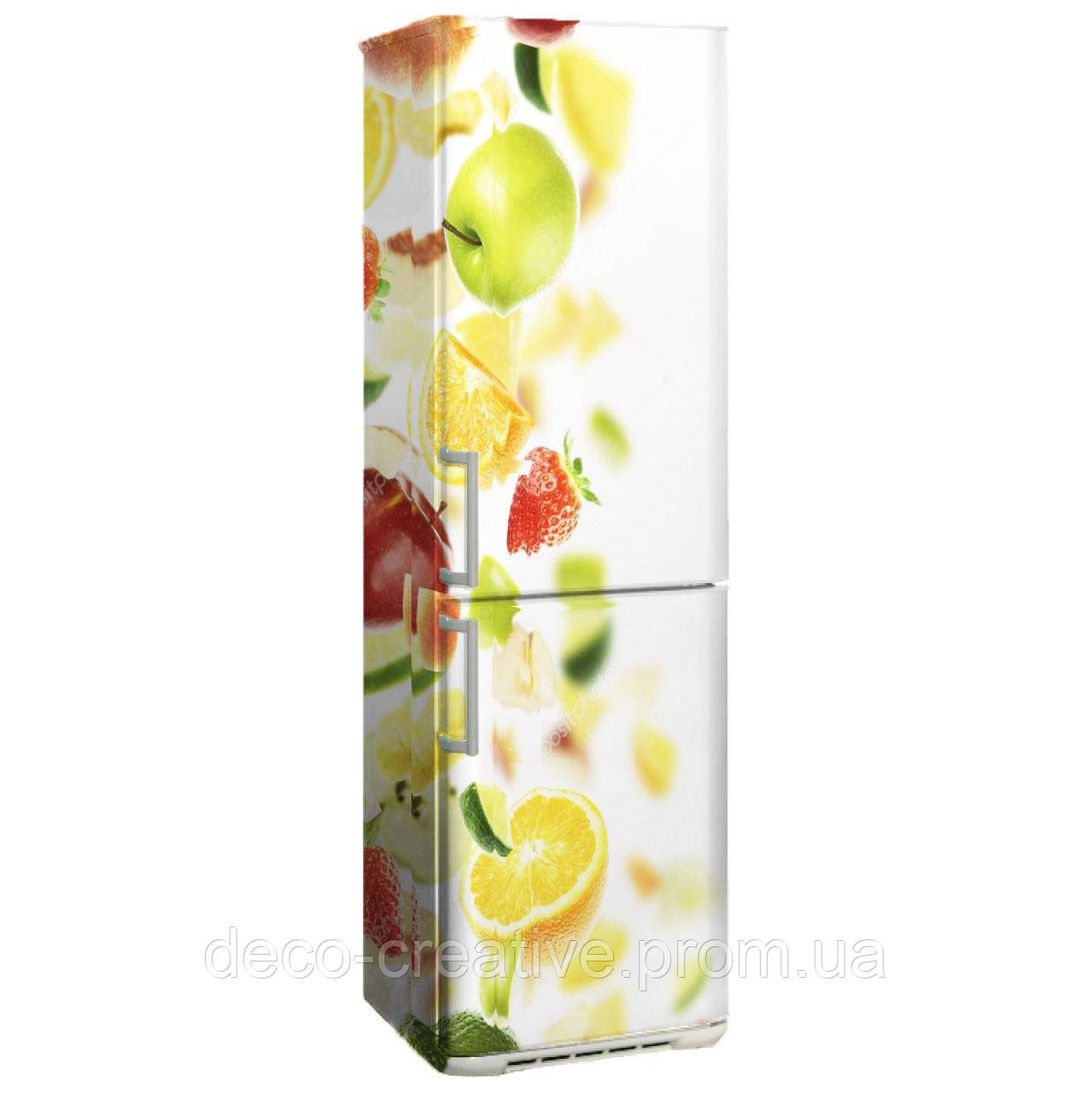 """Наклейка на холодильник """"Падающие фрукты"""""""