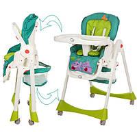 Детский стульчик для кормления Bambi M 1517-5-2, бирюзово-салатовый