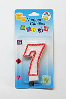 Свеча на торт цифра -7