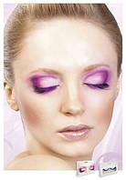 Накладные ресницы перьевые Black-Purple Deluxe Eyelashes