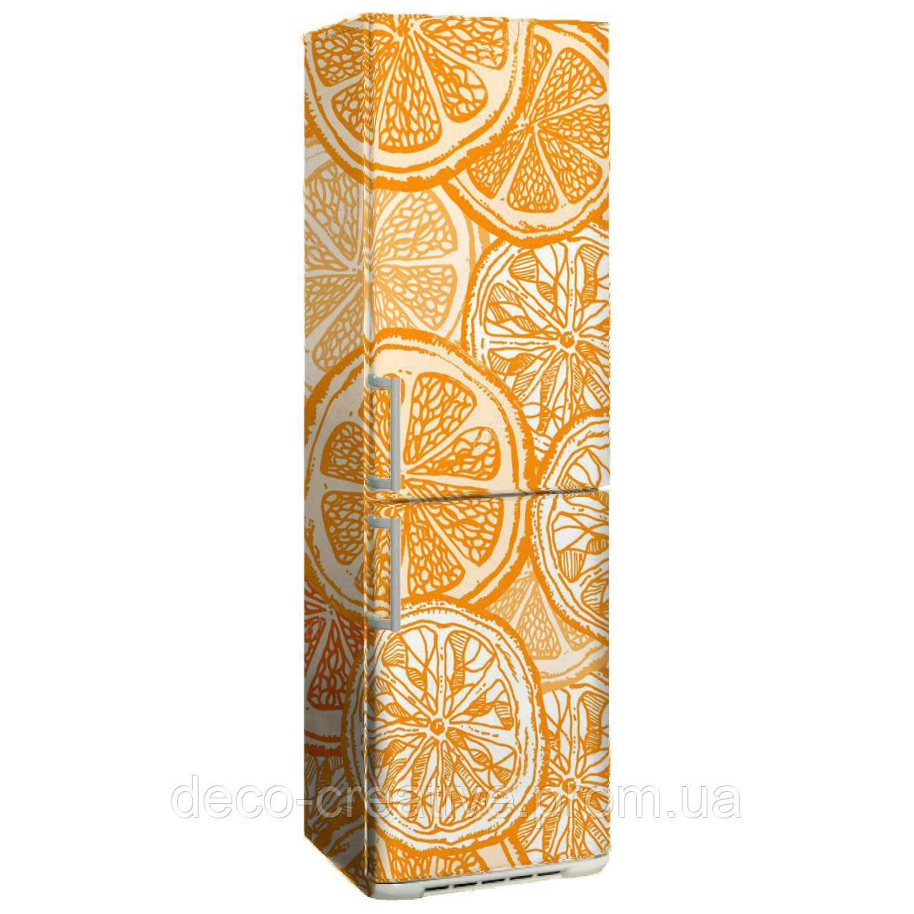 "Наклейка на холодильник ""Апельсинка винтаж"""