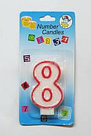 Свеча на торт цифра -8