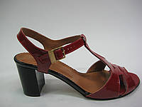 Кожаные босоножки красного цвета от Starmania, фото 1