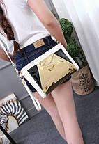 Модная сумка клатч с голографической вставкой, фото 2