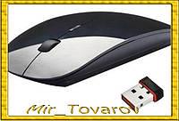 Беспроводная ультратонкая мышка, Мышь черная
