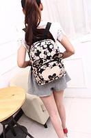 Вместительный рюкзак Микки Маус с принтом цветов и часов