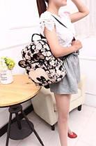 Вместительный рюкзак Микки Маус с принтом цветов и часов , фото 2