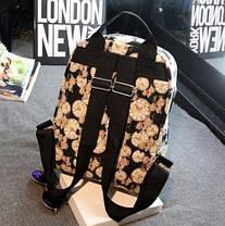 Вместительный рюкзак Микки Маус с принтом цветов и часов , фото 3
