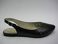 Кожаные босоножки черного цвета от Камея, фото 1