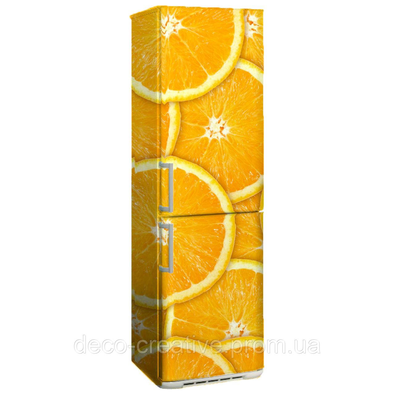 """Наклейка на холодильник """"Апельсинка"""""""