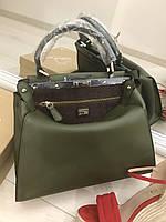 Стильная женская сумка FENDI PEEKABOO MEDIUM зеленая
