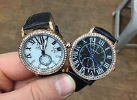 Женские Часы Ronde Louis Carttier Gold черные