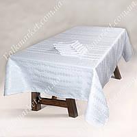 Белый столовый набор: скатерть и салфетки