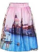 Женская юбка с принтом Венеция