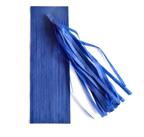 Кисть тассел синяя 35 см длина (собрана)
