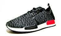 Кроссовки мужские Adidas NMD текстиль, черно-серые (адидас)(р.40,41)