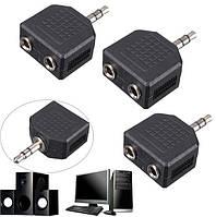 Адаптер аудио сплиттер разветвитель на 2 Jack 3.5 мм
