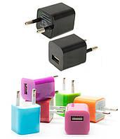 Сетевое зарядное устройство USB 220В переходник адаптер кубик