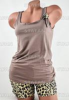 Женский комплект майка с шортами Турция. Night Angel 5149 L/XL. Размер 44-46.