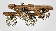 Люстра деревянная припотолочная AR-003938