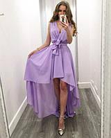 Шифоновое платье со шлейфом 303(цвета)