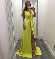 Платье длинное в пол из двойного шифона(цвета) 547