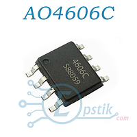 AO4606C, Транзистор полевой, N-канал/P-канал,  SOP8