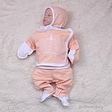 """Набор для новорожденных """"Queen"""", персиковый, 3-х предметный, фото 4"""