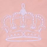 """Набор для новорожденных """"Queen"""", персиковый, 3-х предметный, фото 7"""
