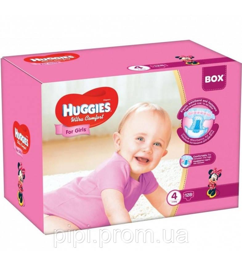 84e587ac778f Подгузники Huggies Ultra Comfort 4 (7-16 Кг) 128 Шт Box Girl для ...