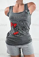 Женский комплект майка с шортами Турция. Night Angel 5195 S/M. Размер 42-44.