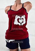 Женский комплект майка с шортами Турция. Night Angel 5261 S/M. Размер 42-44.