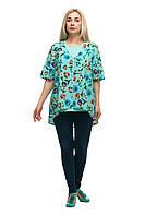 Женская блузка + топ большого размера 1711002/3V