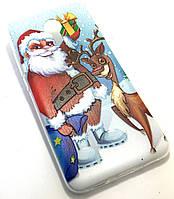 Силиконовый чехол для Meizu M3 Note новогодний с рисунком Деда Мороза