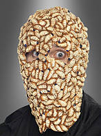 Страшная маска на Хэллоуин из червей