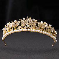 Корона диадема Зарина тиара для волос свадебная украшения для волос свадебная диадема